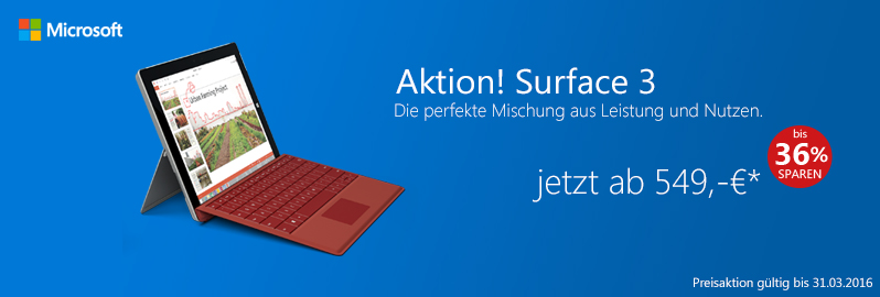 Surface 3 Aktion